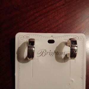 Jewelry - Brighton small hoop earrings w/Swarovski crystals